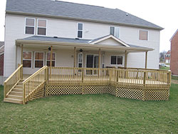 Deck, Railing, and Lattice