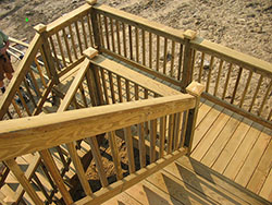Winding Deck Staircase