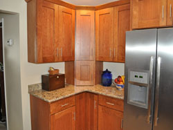 Kitchen Cabinets and Built-In Refrigerator