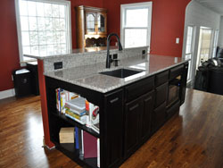 Kitchen Island Sink and Storage